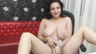 Lorennamorgan toying pussy on webcam